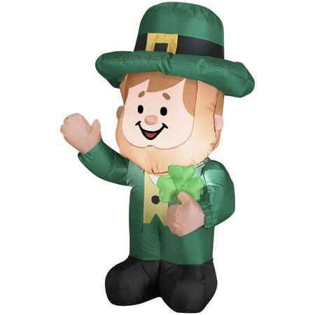 3.5' St. Patricks Day Leprechaun Airblown Inflatable Yard Decoration](Leprechaun Decorations)