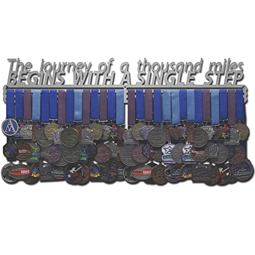 """A JOURNEY OF A THOUSAND MILES BEGIN WITH A  SINGLE STEP MEDAL HANGER 30/"""""""