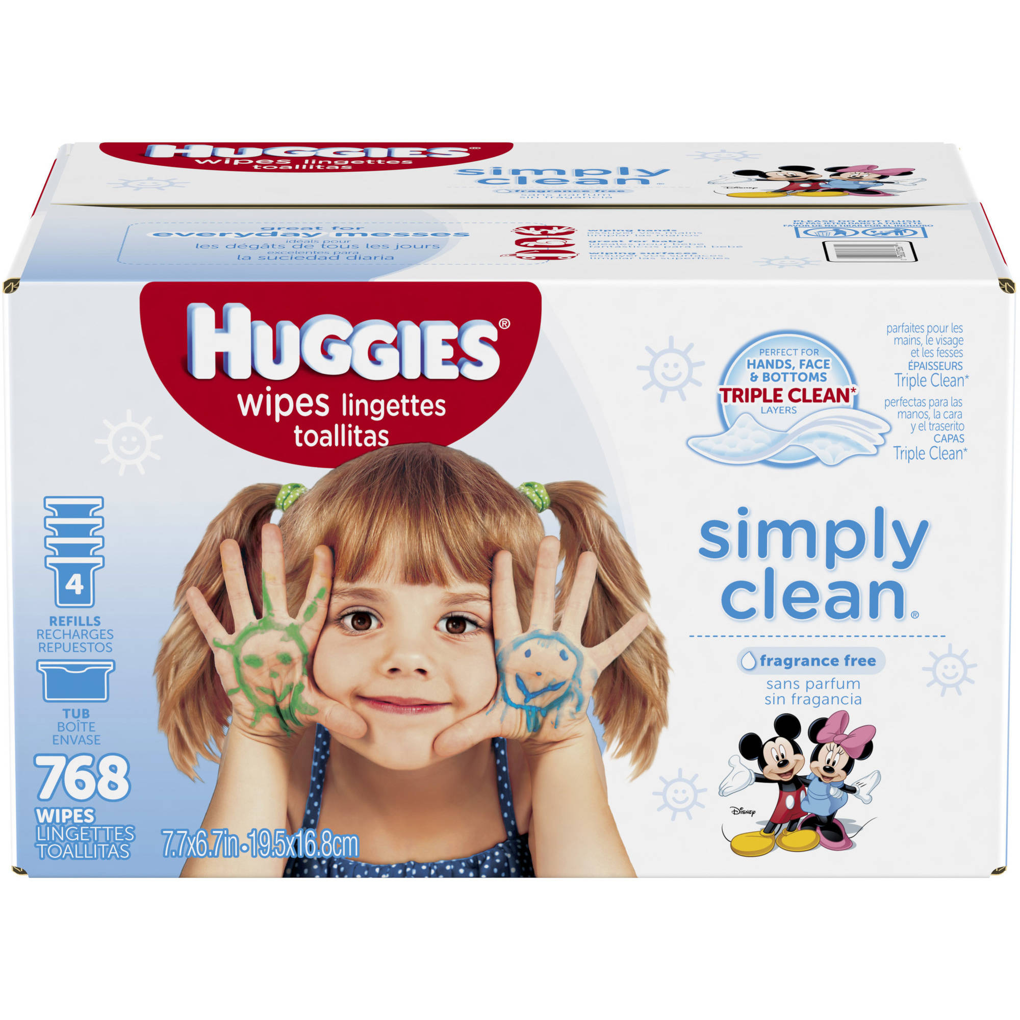 Huggies Simply Clean Wipes 768 Wipes