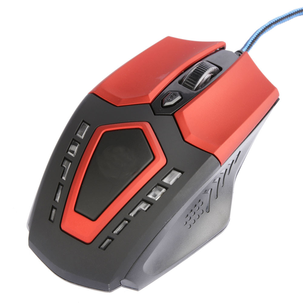 New Fashion 3200 DPI 6D Buttons LED Wired Gaming Mouse For PC Laptop BK Popular
