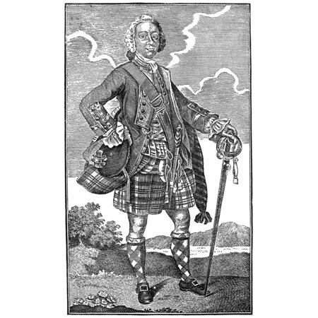 Lord Loudoun (1705-1782) Njohn Campbell Earl Of Loudoun Scottish General Wood Engraving American 19Th Century After An English Engraving 1757 Rolled Canvas Art -  (24 x 36)
