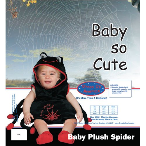 Dress Up America Baby Plush Spider Costume