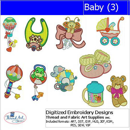 ThreadArt Machine Embroidery Designs Baby(3) CD