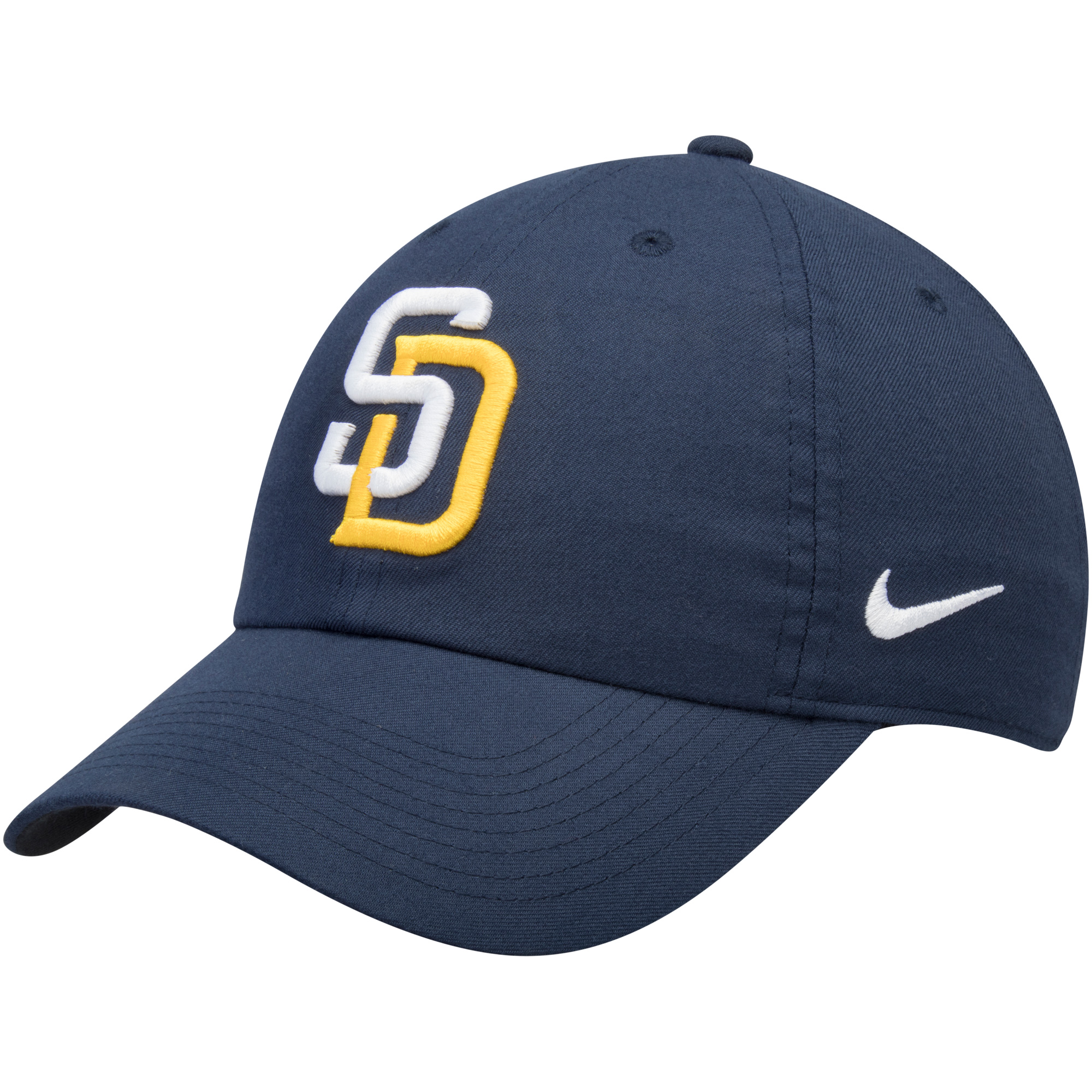 San Diego Padres Nike Heritage 86 Stadium Performance Adjustable Hat - Navy - OSFA