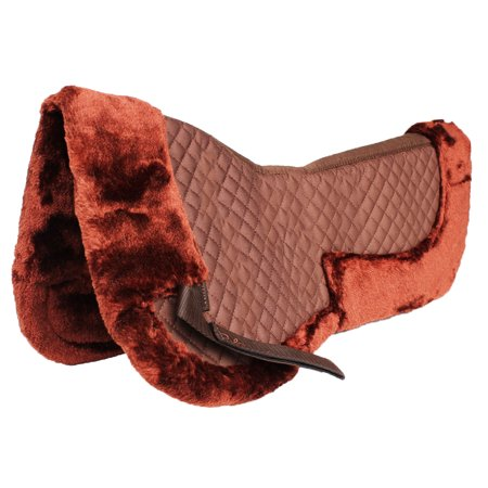 Horse English Quilted SADDLE Half Pad Correction Wither Relief Fur Brown 12216BR Wither Relief Pad