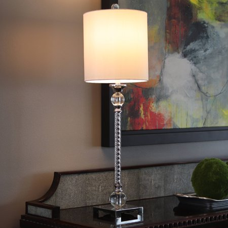 Camilla Acrylic Twist Chrome Buffet Table Lamp