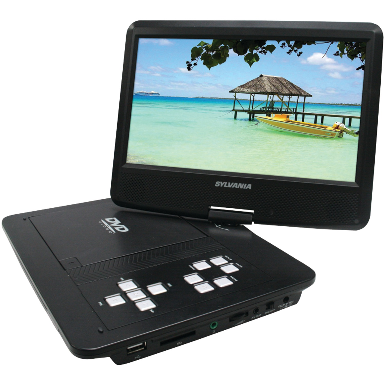 """SYLVANIA SDVD1030 10"""" Swivel-Screen Portable DVD Player"""
