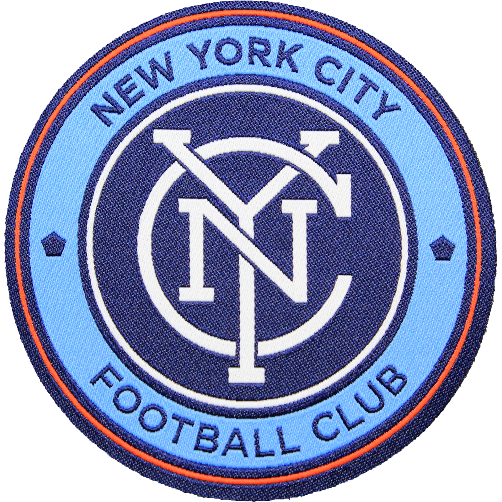 New York City FC Primary Team Crest Pro-Weave Jersey Patch