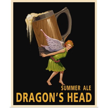Great BIG Canvas | Rolled Steve Thomas Poster Print entitled Dragon's Head Ale (Steve Head)