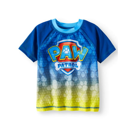 PAW Patrol Short Sleeve Rash Guard Swim Top (Toddler - Toddler Boys Swimwear
