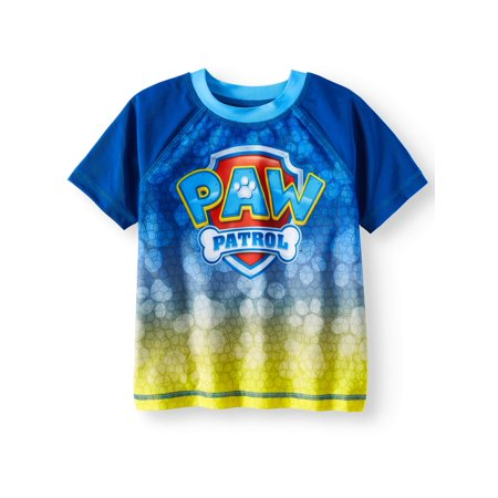 Toddler Boys Bathing Suit (PAW Patrol Short Sleeve Rash Guard Swim Top (Toddler Boys))