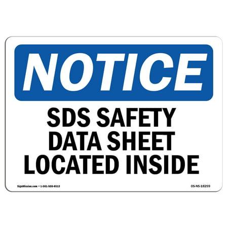 osha notice sign sds safety data sheet located inside choose