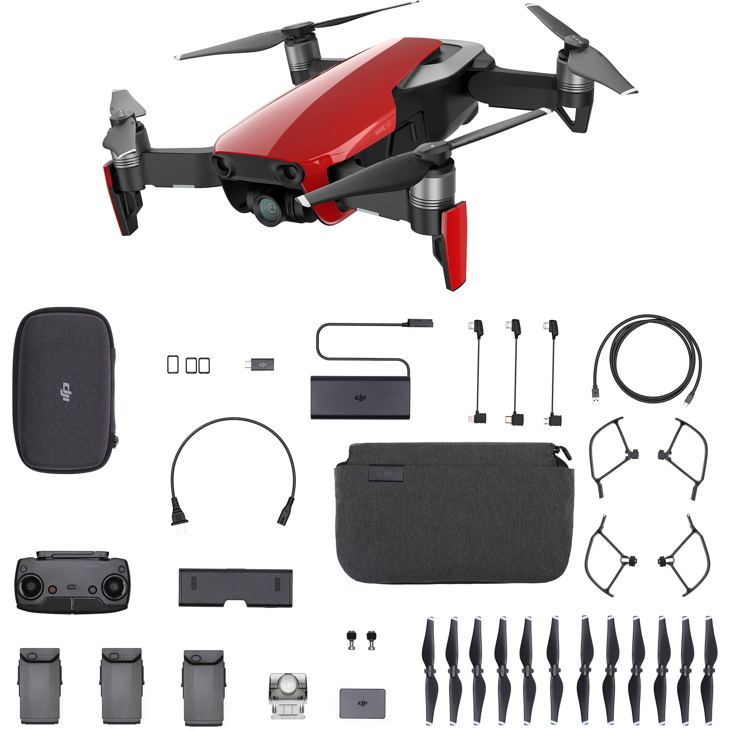 DJI Mavic Air Drone Fly More Combo in Arctic Whie by DJI