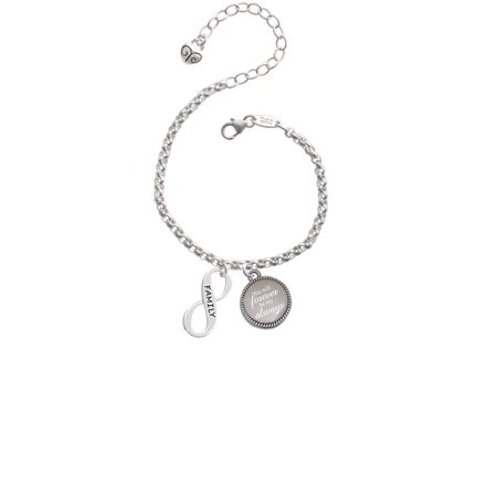 Family Infinity Sign You Will Forever Be My Always Engraved Bracelet