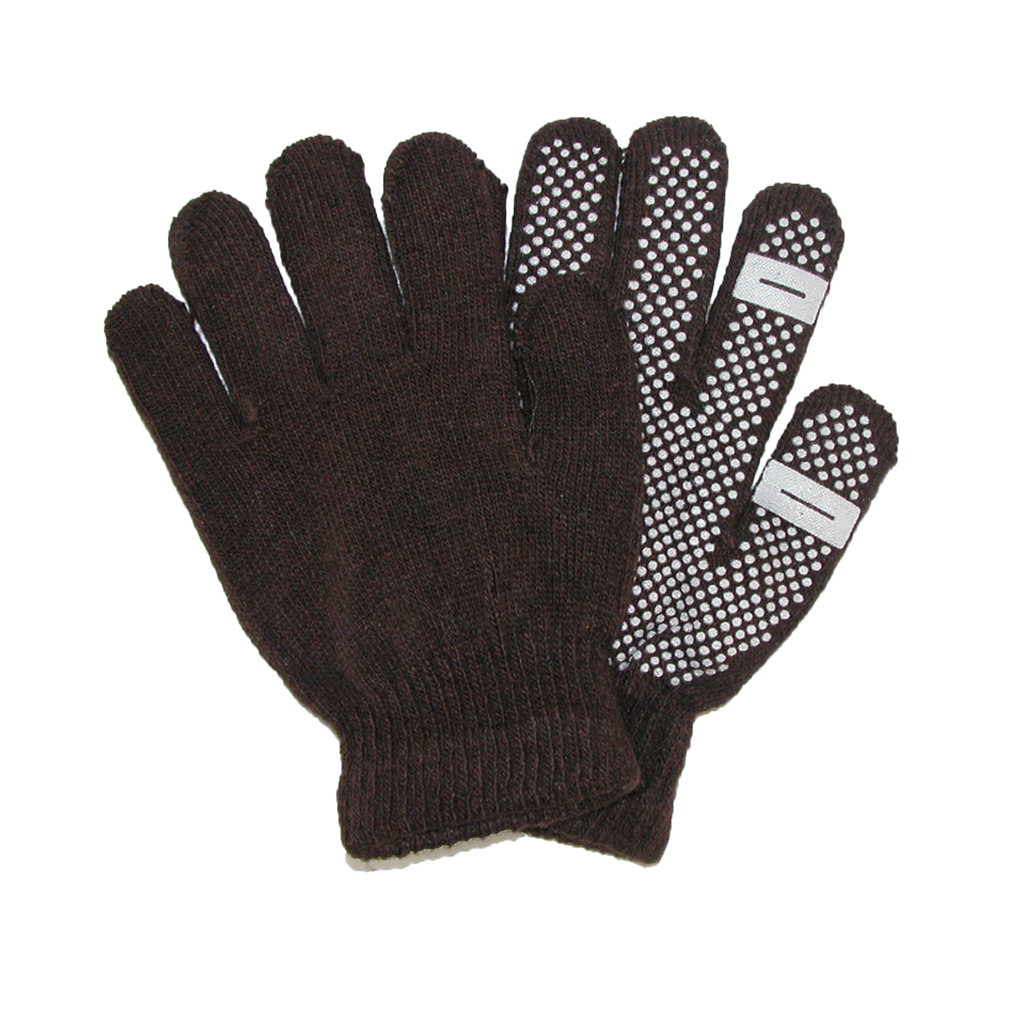 CTM®  Womens Grip Knit Texting Winter Gloves