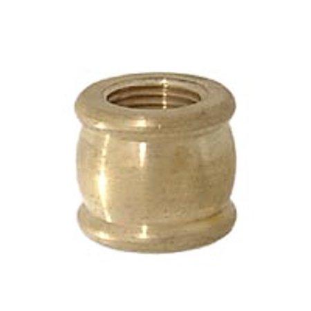 "B&P Lamp® 1/4F X 1/4F Brass Coupling, 9/16"" Ht., Unfinished"