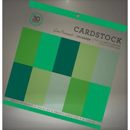 colorbok 73477a smooth cardstock paper pad green promenade 12 x 12