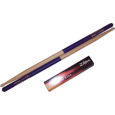 Zildjian 7ANP 7A Nylon Purple Dip Drumsticks Drum Sticks - One Pair