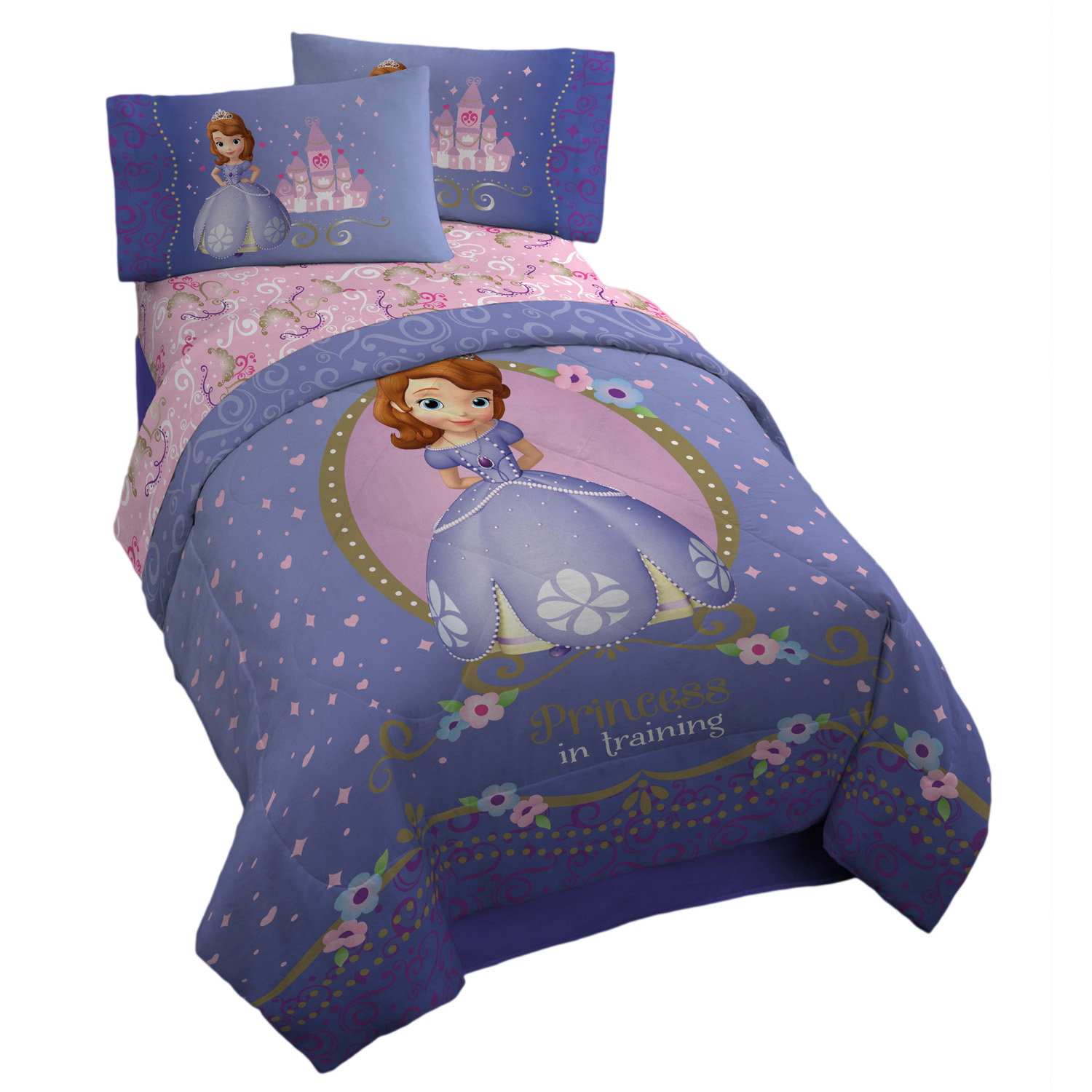 Princess Sofia Twin Comfortable Bed Sheet 4 Sets Walmart Com Walmart Com