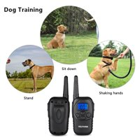 HERCHR Dog Training Collar, LCD Electric 100LV Levels Shock Vibra Pet Dog Training Remote Control E-Collar