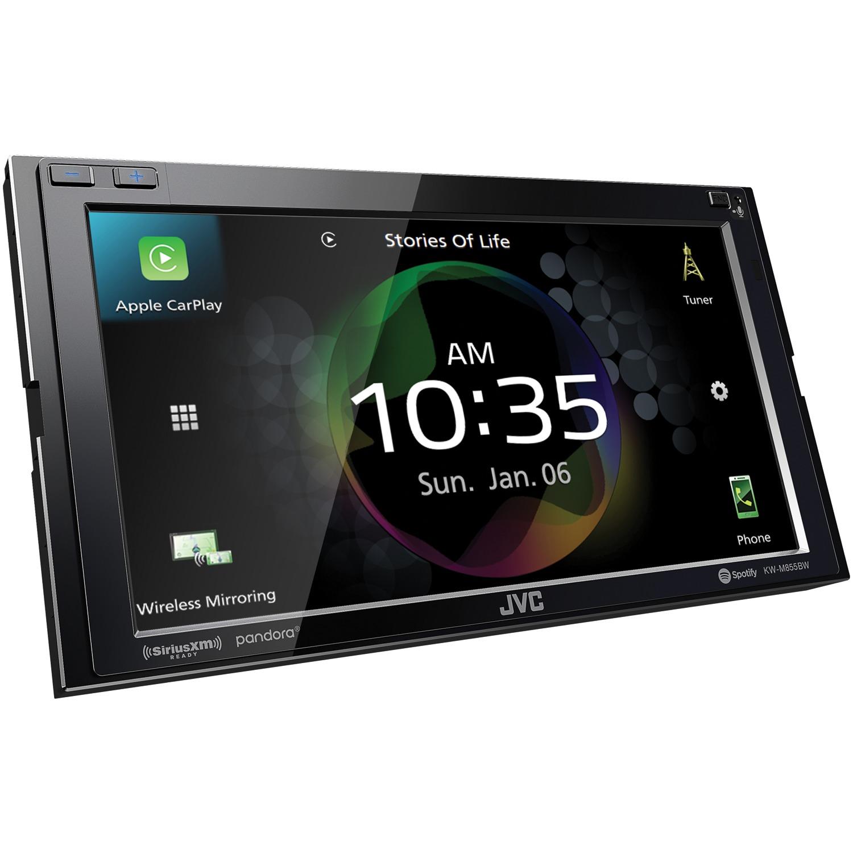 "JVC KW-M855BW KW-M855BW 6.8"" Double-DIN In-Dash Digital Media Receiver with Bluetooth, Wi-Fi, Apple CarPlay, Android Auto & SiriusXM Ready"