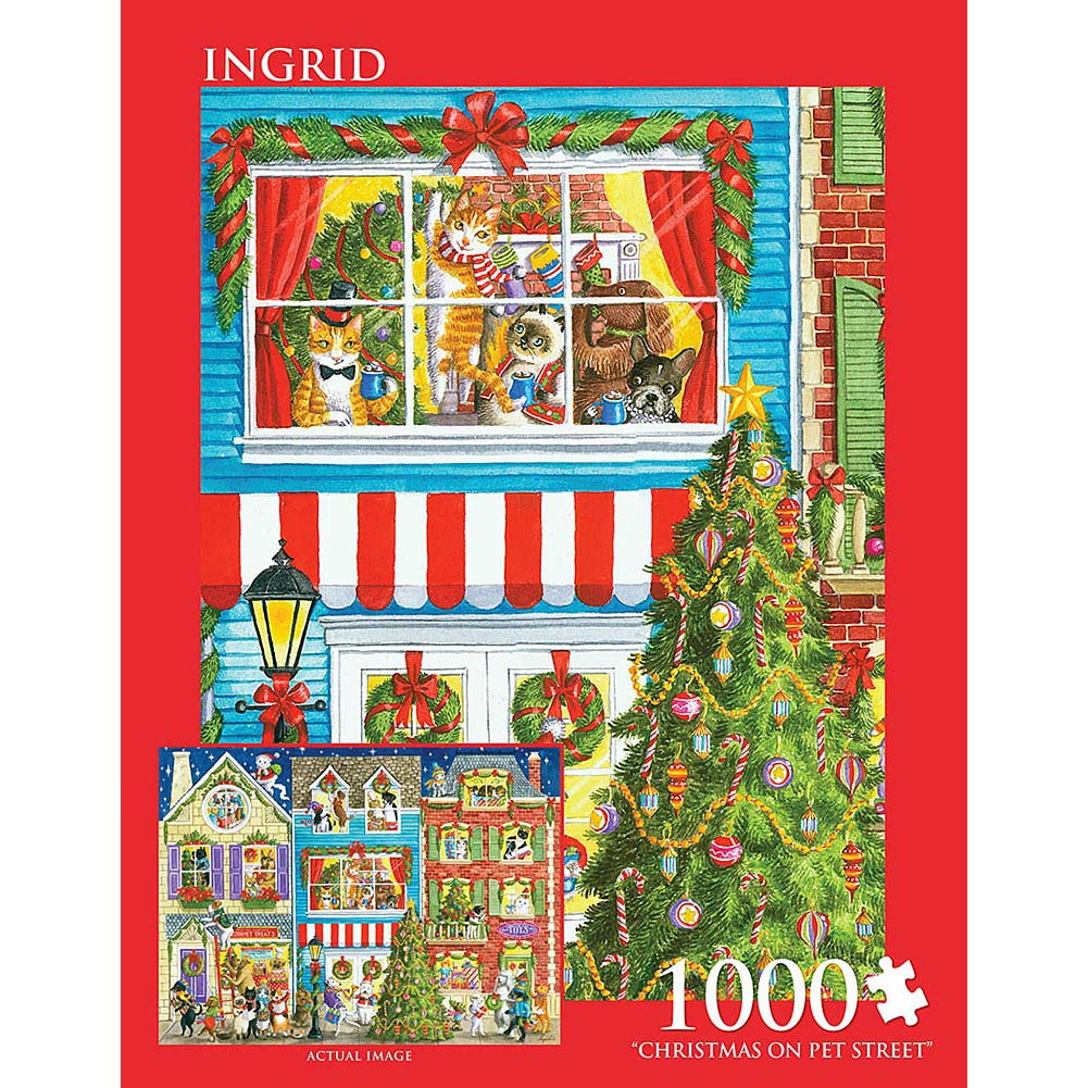 Christmas on Pet Street 1000 Piece Puzzle