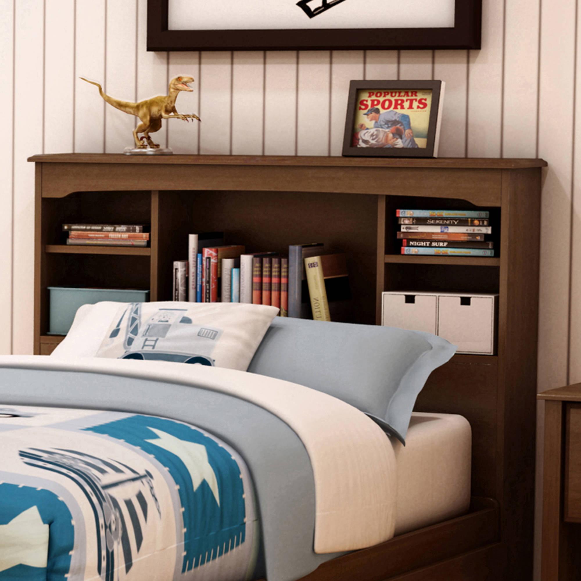 Black Kallisto Bookcase Headboard With Doors Walmart Com