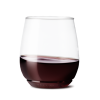 TOSSWARE Clear Plastic Vino Wine Glasses, 14 oz, 12 Count