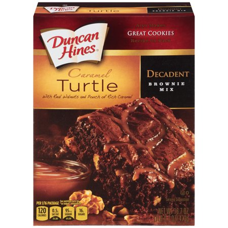 - (4 Pack) Duncan Hines: Chocolate Lover's Turtle Brownies, 16.70 oz