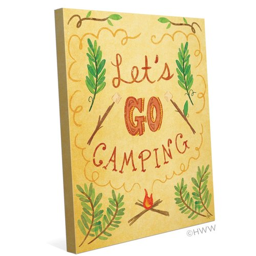 Click Wall Art Let's Go Camping Textual Art on Wrapped Canvas