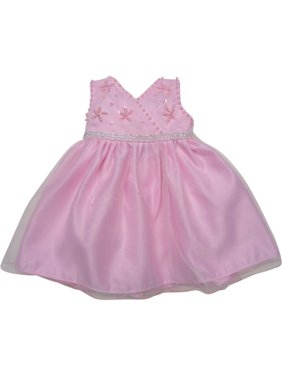 Little Girls Pink Beaded Floral Embroidered Sleeveless Flower Girl Dress e147f1732