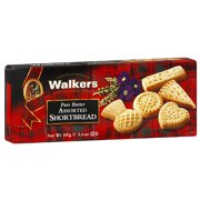 Walkers Assorted Butter Cookies, 5.6 oz (Pack of 12)
