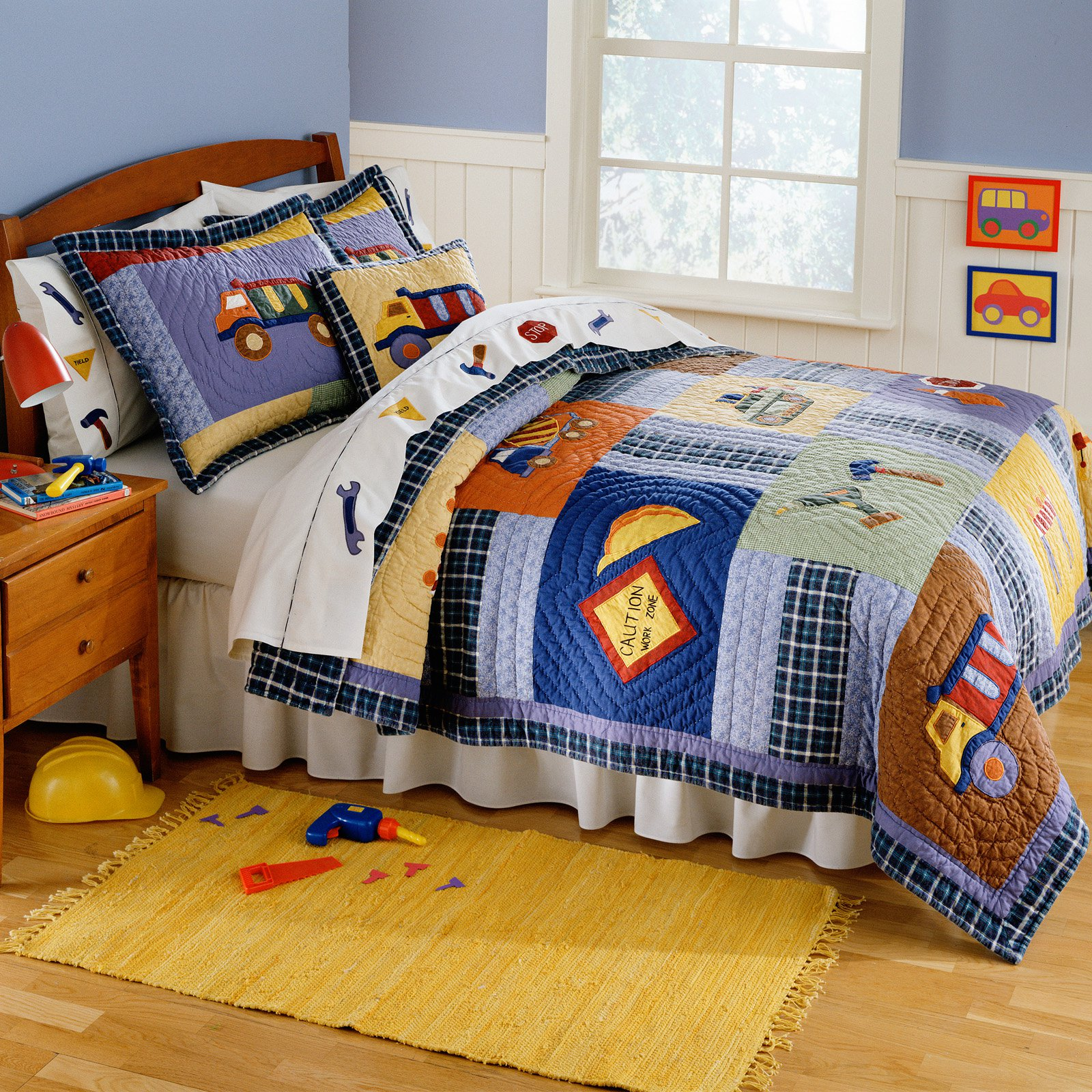 My World Construction Quilt Set