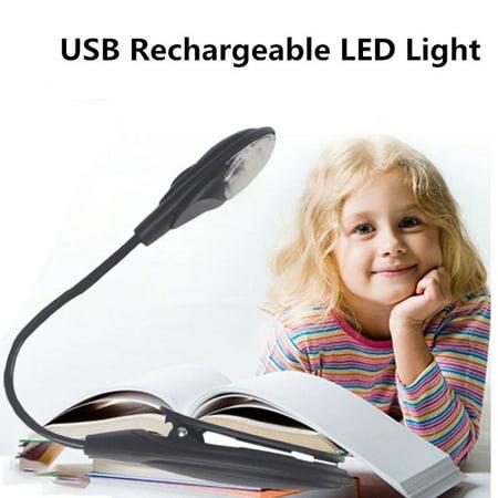 Reading Light Lamp Convenient Portable Travel Book Mini LED Clip Booklight