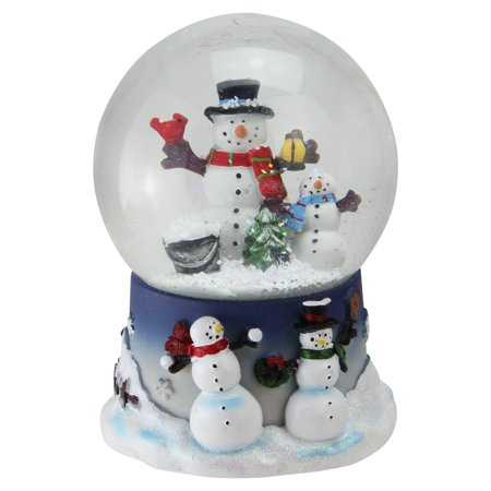 Musical Snowman Snowglobe (Northlight Snowman and Snow-Son Musical Christmas Snow Globe )