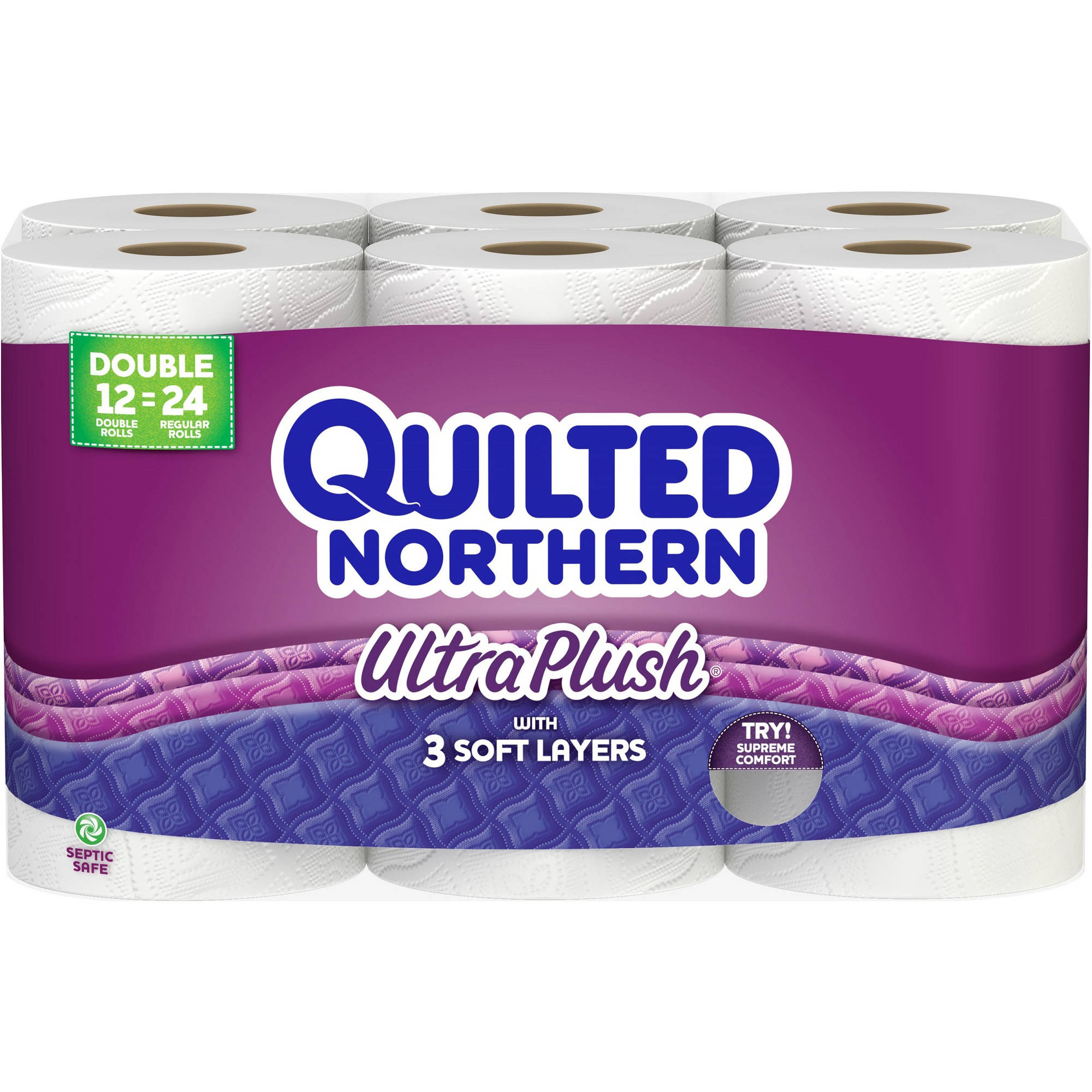 Quilted Northern Ultra Plush Double Roll Toilet Paper, 12 rolls