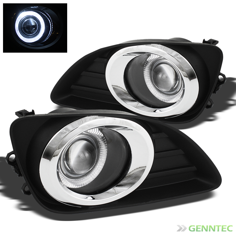 2010-2011 Camry Halo Clear Projector Fog Lights Rainy Lamps w/Switch Complete Pair Left+Right