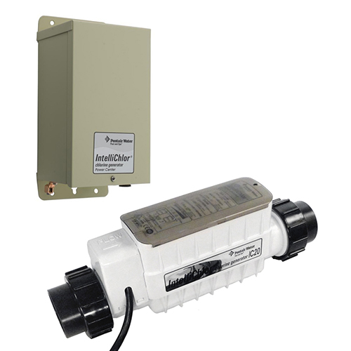 Pentair IntelliChlor IC20 Chlorinator Cell & Power Supply, Pools up to 20K Gallons 520554 520556