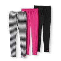 Limited Too Striped and Solid Leggings, 3-Pack (Little Girls and Big Girls)