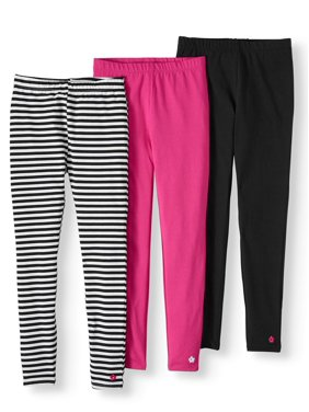 Limited Too Striped and Solid Leggings, 3-Pack (Little Girls & Big Girls)