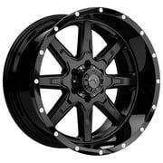 Tuff T-15 17x9 6x135 +10mm Satin Black Wheel Rim