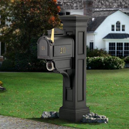 Liberty Mail Post - Black (Black Liberty Mailbox)