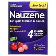Nauzene For Upset Stomach & Nausea Wild Cherry Flavor Chewable Tablets - 40 CT