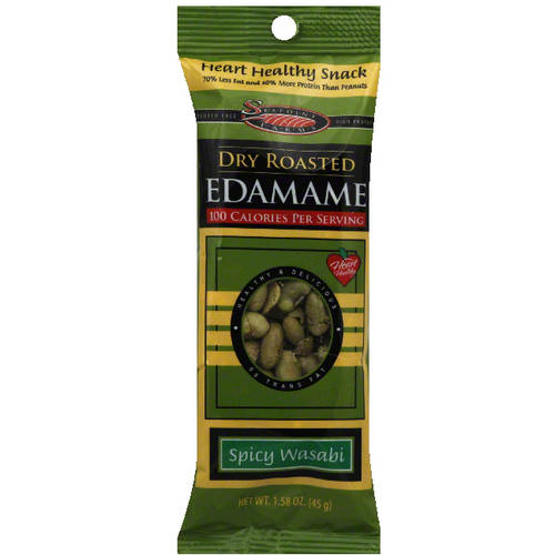 Seapoint Farms Spicy Wasabi Dry Roasted Edamame, 1.58 oz (Pack of 12)