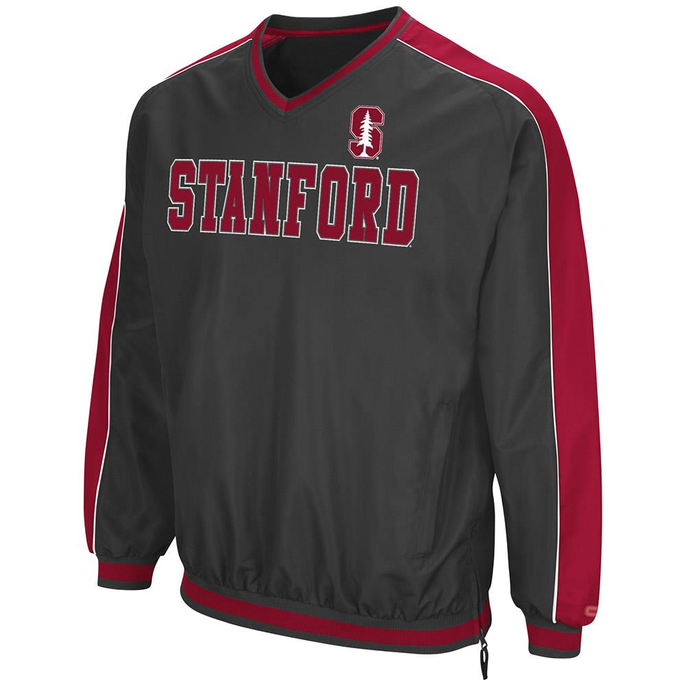 Mens Stanford Cardinal Attack Line Wind Breaker Jacket by Colosseum