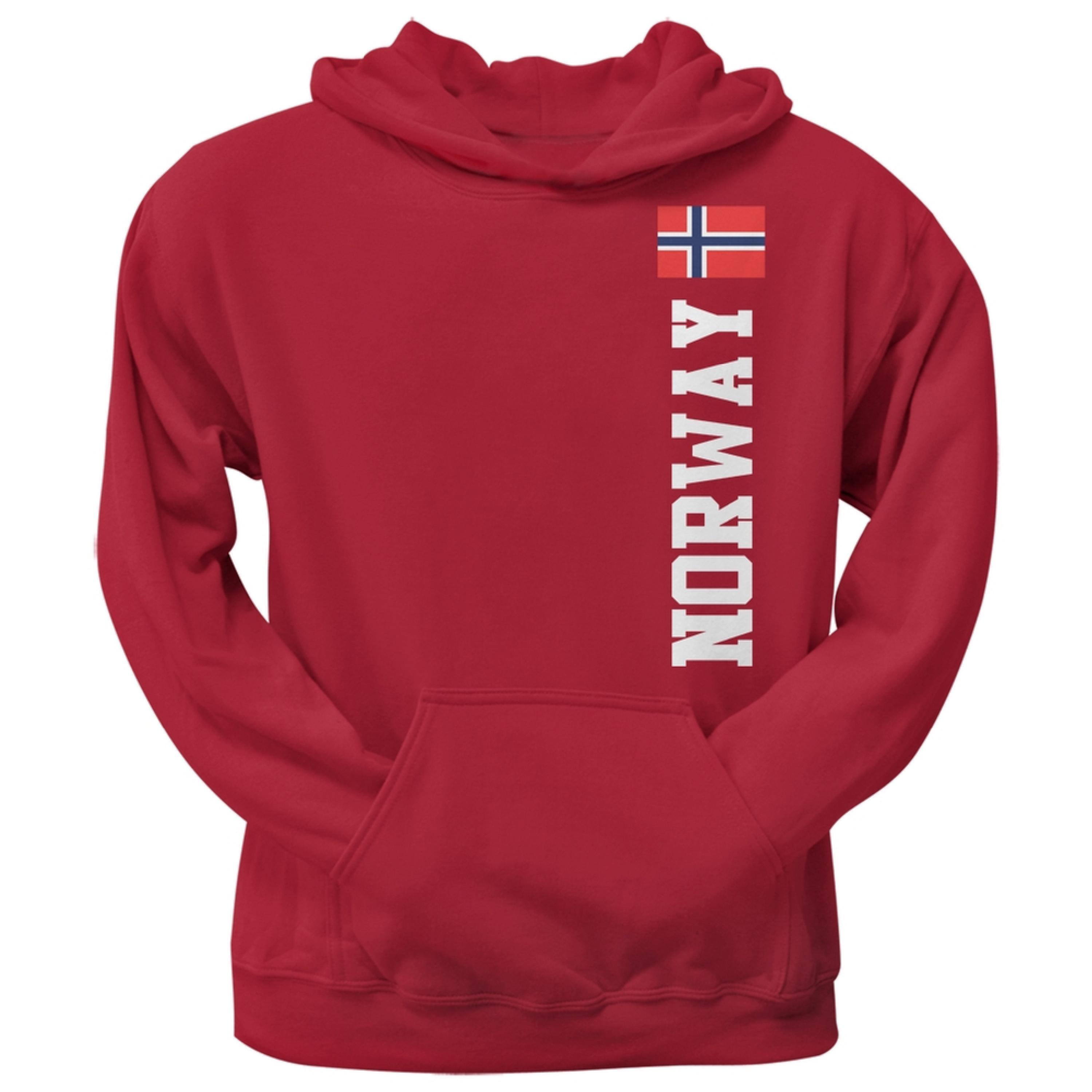 World Cup Norway Red Adult Pullover Hoodie