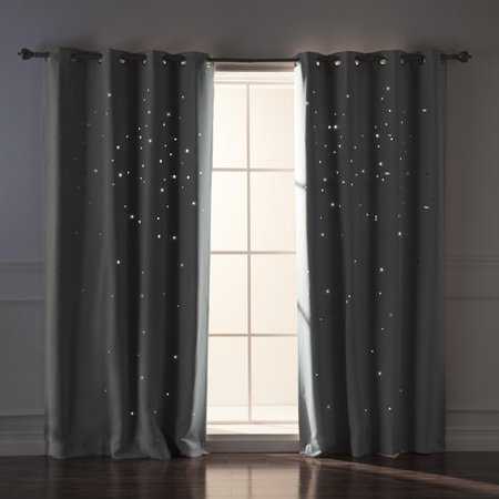Harriet Bee Jayme Star Cut Out Blackout Thermal Grommet Curtain Panels (Set of 2)