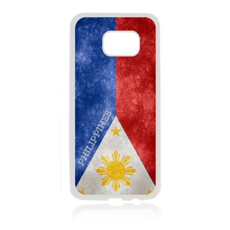 Flag Philippines - Filipino Grunge Flag White Rubber Thin Case Cover for the Samsung Galaxy s6 - Samsung Galaxy s6 Accessories - s 6 Phone