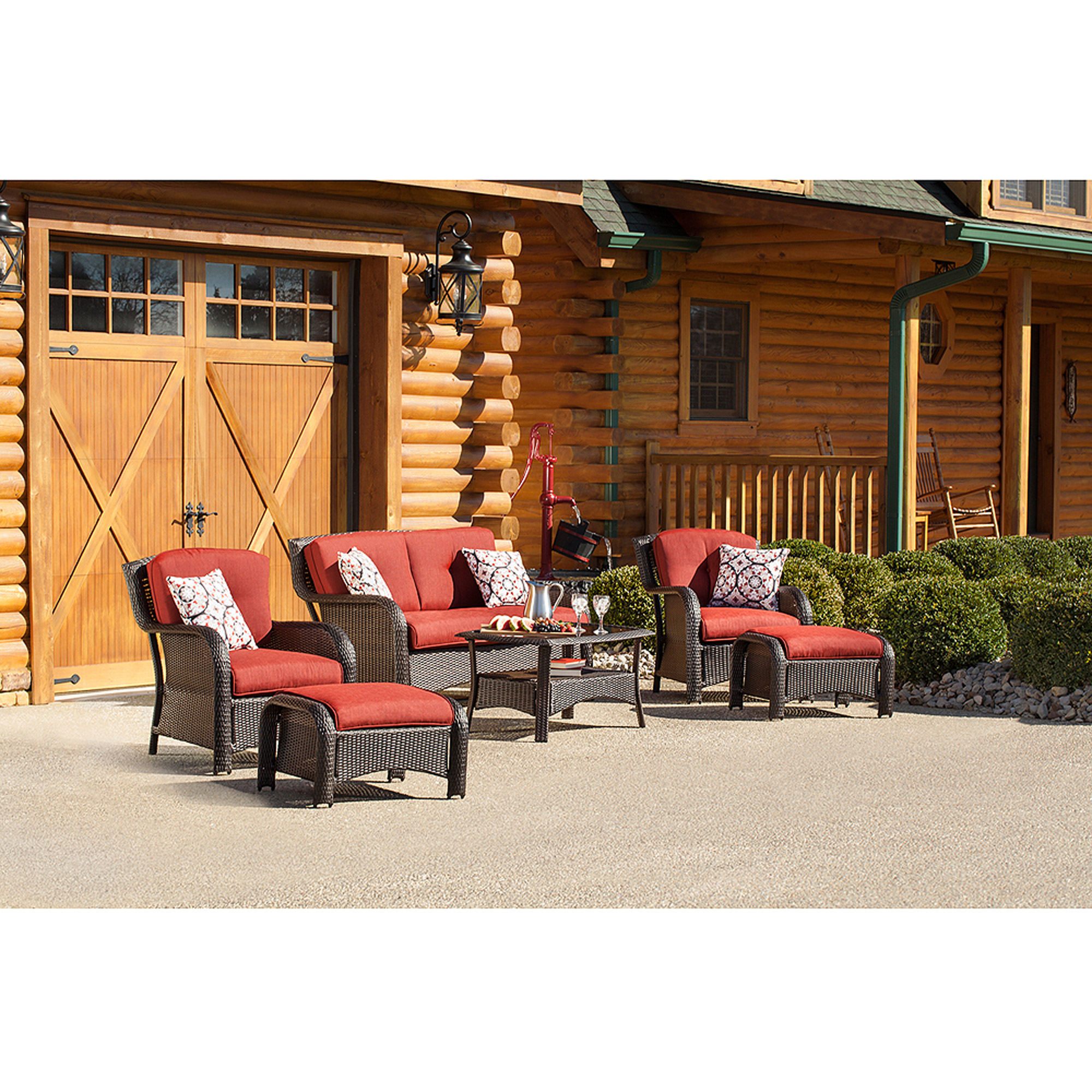 Hanover Strathmere 6-Piece Outdoor Woven Lounge Set