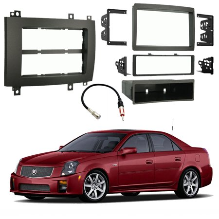 Cadillac CTS-V 2003-2007 Single or Double DIN Stereo Radio Install Dash Kit Gray